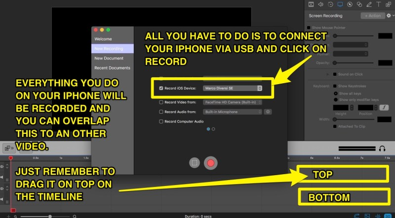 how to record from your iphone on a mac
