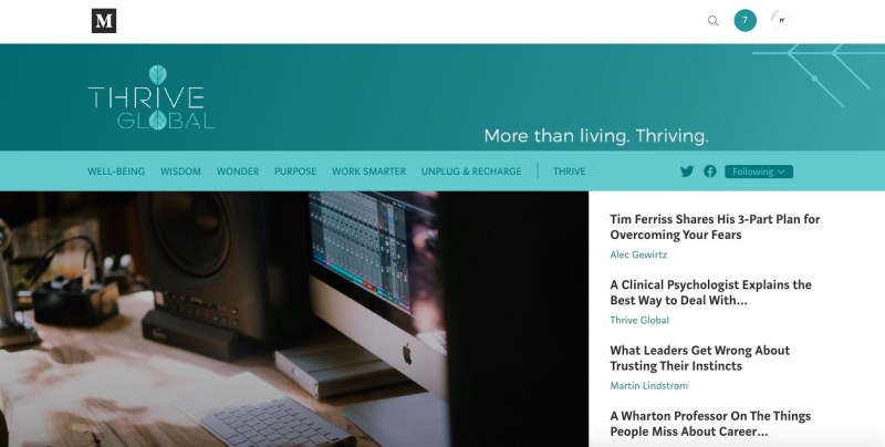 thrive global medium publication