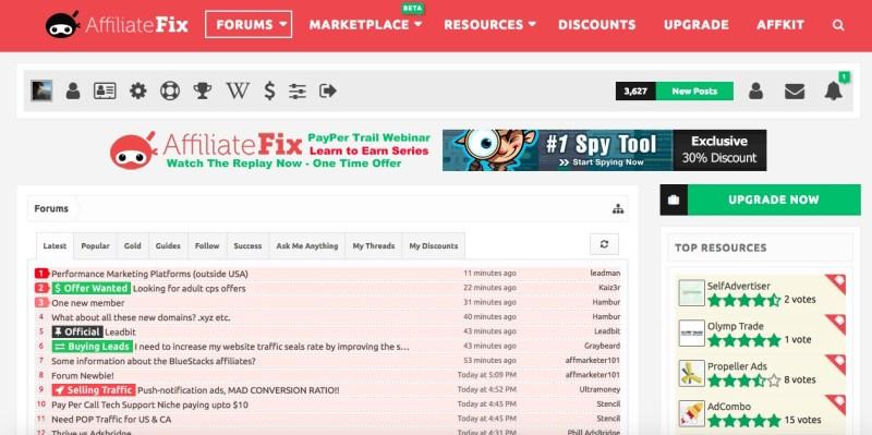 affiliate forum fix