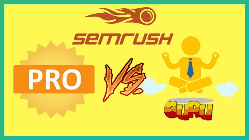 differenza semrush pro e guru