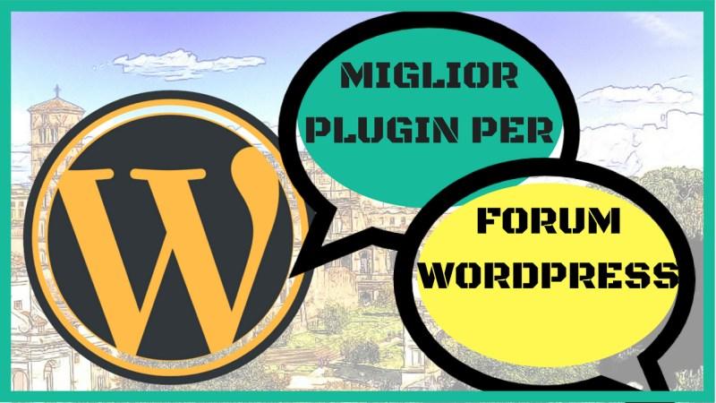 plugin per forum wordpress