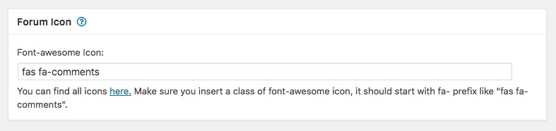 wpforo forum custom icons