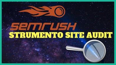 strumento di verifica del sito semrush