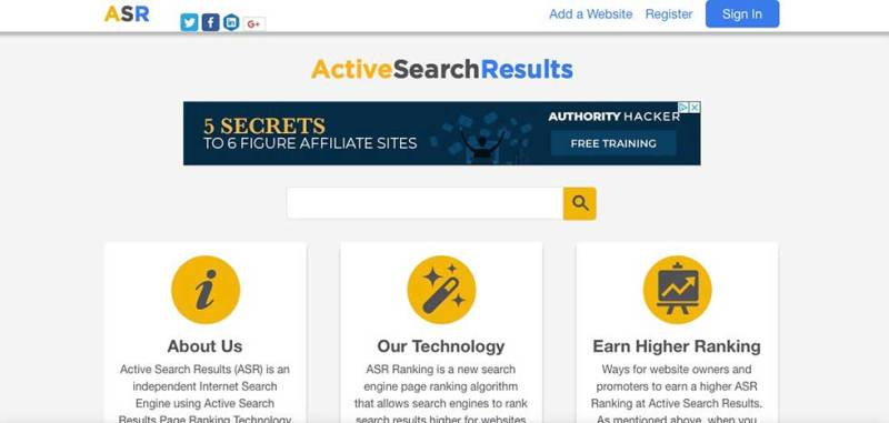 active search results
