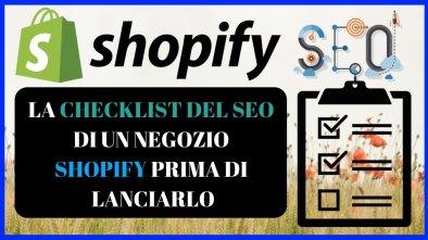 checklist seo negozio shopify