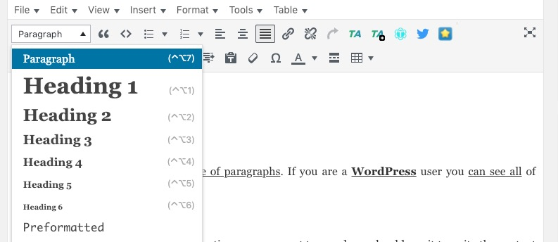 h tag su wordpress