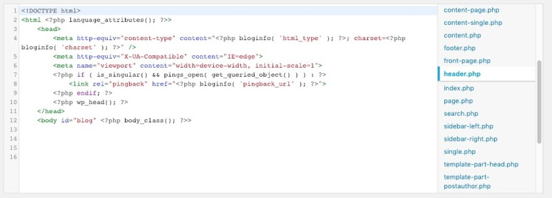 vedere il codice sorgente 2
