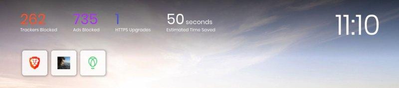 brave browser time saved