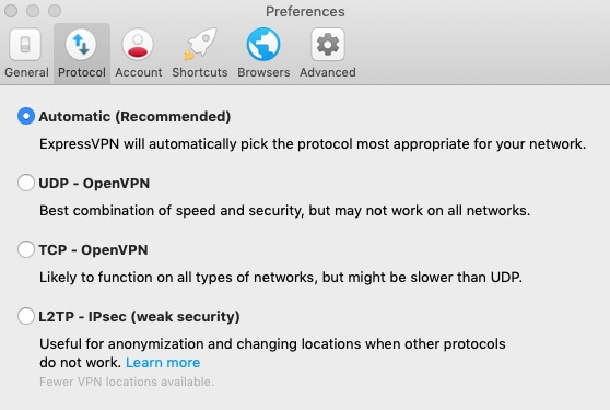 ExpressVPN Settings 2