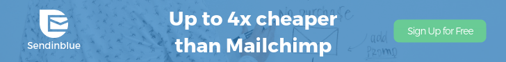 four times cheaper than mailchimp sendinblue signup