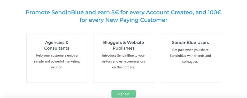 sendinblue affiliate program