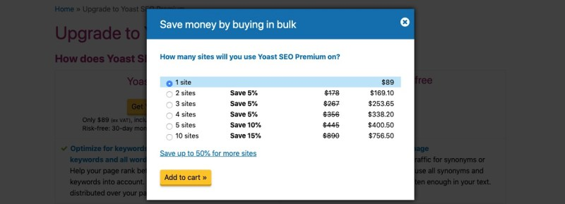 yoast seo pricing