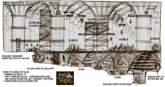 Crypts / Boulder Escape Sketch - Marc