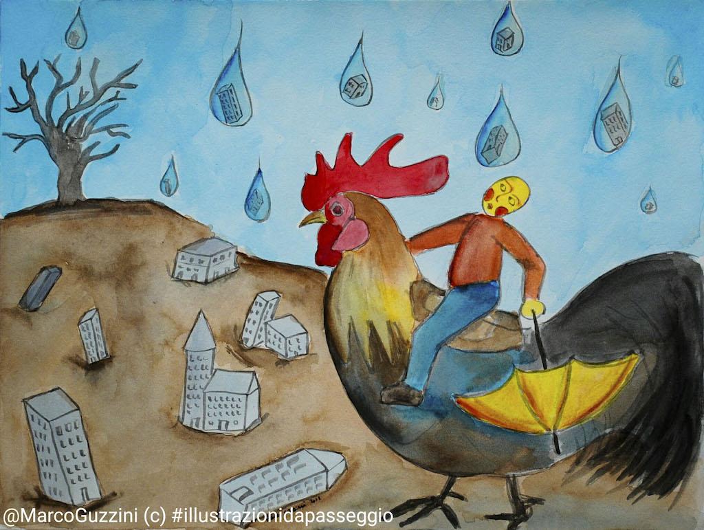 illustrazione da passeggio cosa piove brevi illustrazioni narrate - Eroi
