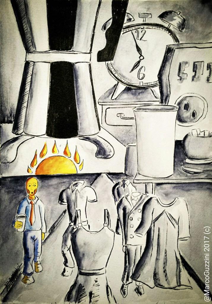 illustrazione da passeggio -  Monday morninig Story -Lunedì Mattina