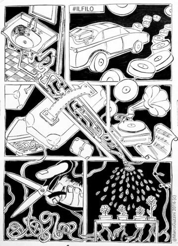 serie di illustrazioni il filo , come realizzare una illustrazione , esercizi di Improvvisazione