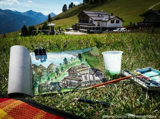 Sketchbook al Passo Lusia - Dolomiti - Val di Fassa