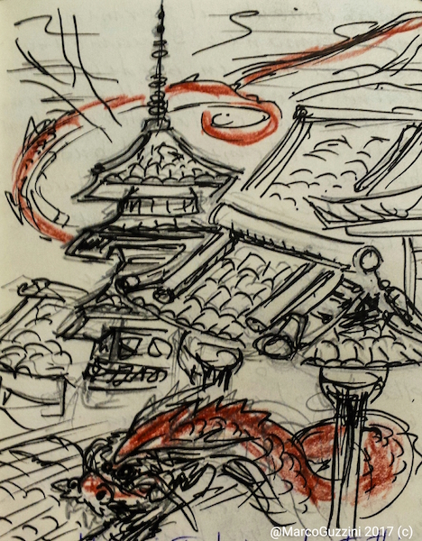giappone sketchbook templi atmosfera
