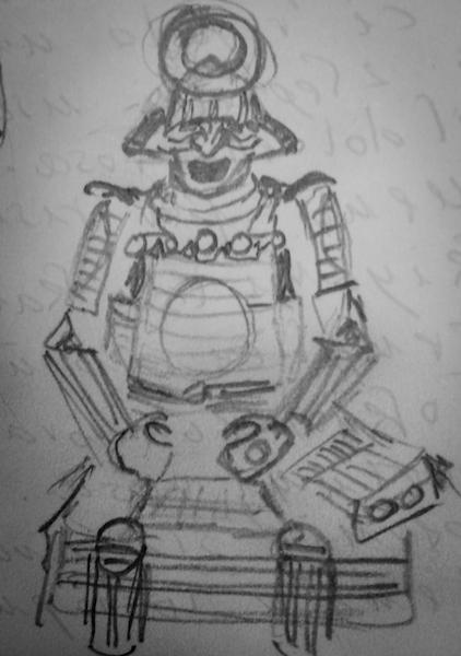 sketchbook armatura samurai