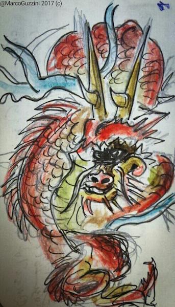 sketchbook giappone - draghi