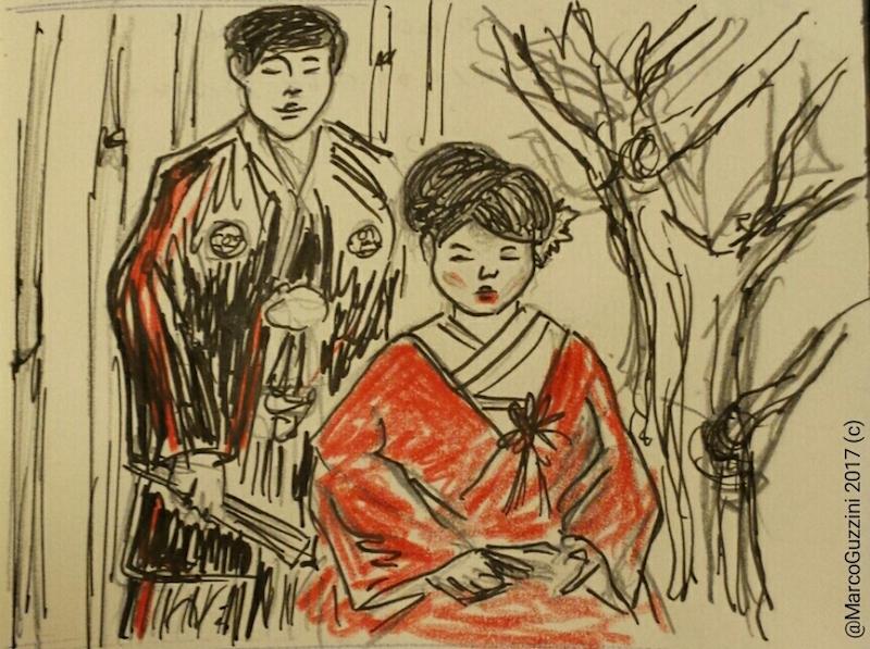 Giappone sketch matrimonio tradizionale