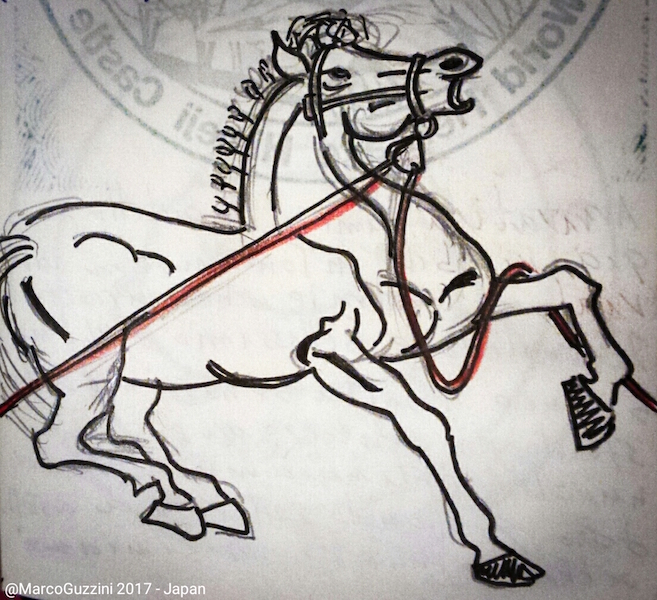 sketchbook cavallo giappone