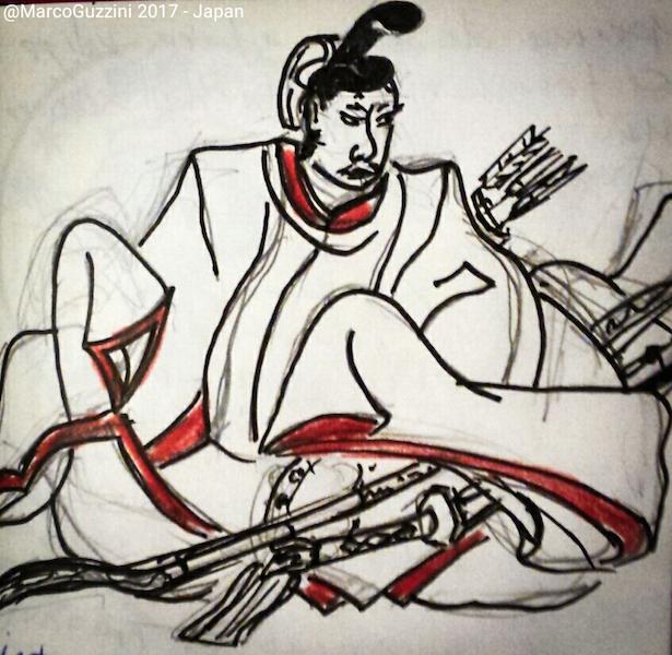 sketchbook samurai giappone