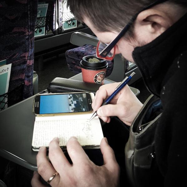 Disegnando sul Treno - Giappone