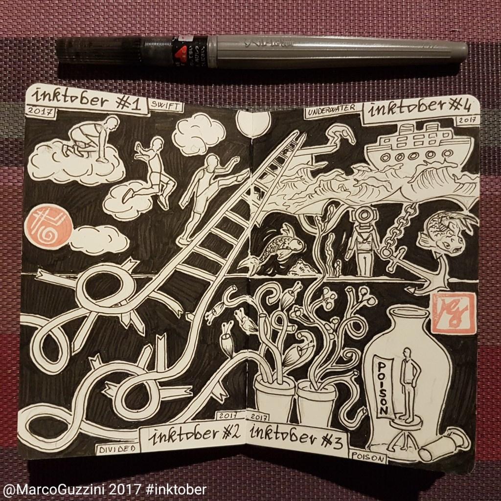 inktober 2017 sketchbook marco guzzini