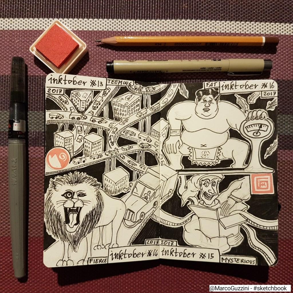 sketchbook inktober marco guzzini
