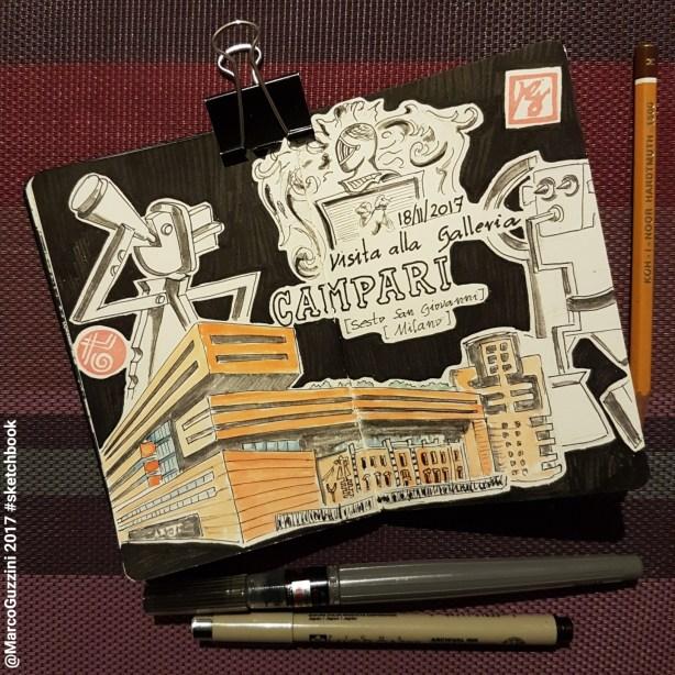 sketch visita alla Galleria Campari