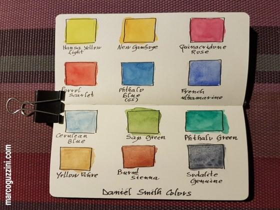 Prova colori acquerello Daniel Smith