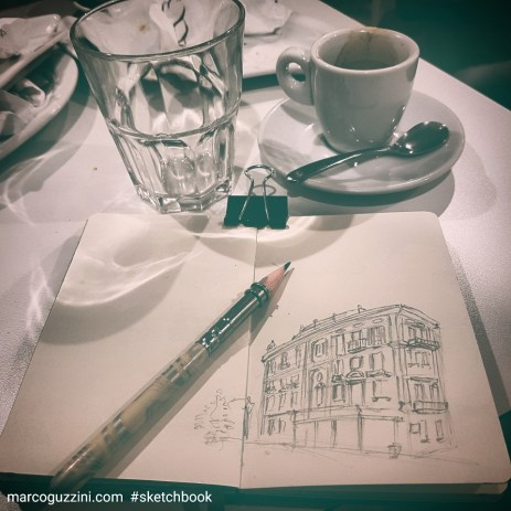 sketchbook e caffe