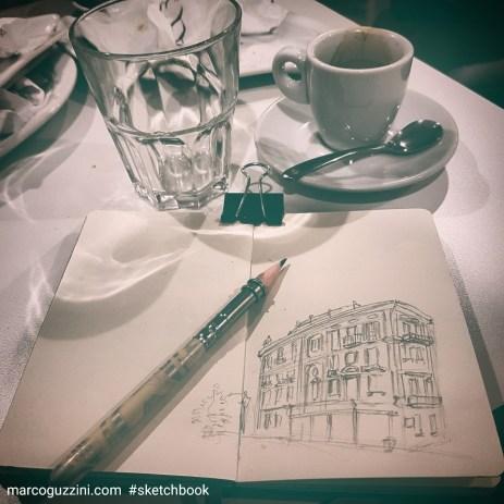 sketchbook e caffe