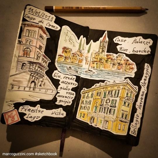 sketchbook lago di como - Como e Chioggia