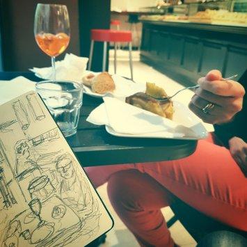 sketchbook aperitivo a Brescia