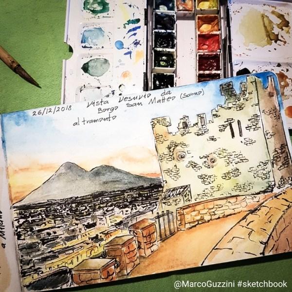 Racconti di un natale illustrato , Borgo San Matteo a Sarno e Vesuvio