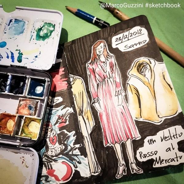 Racconti di un natale illustrato , un vestito rosso