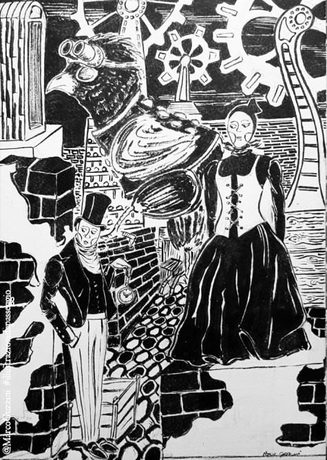 A spasso in tre illustrazioni da passeggio