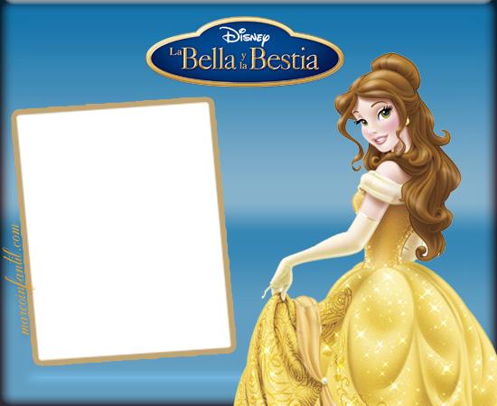 Bella y Bestia marcos - imagenes de bella y bestia - tarjetas de bella y bestia stickers - marcos para fotos de princesa bella