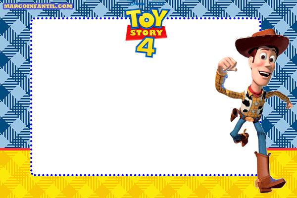 Woody Toy Story 4 Marcos Tarjetas Imagenes Invitaciones