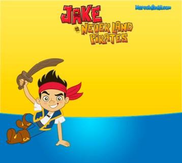 Marcos de Jake y Los PIratas - Jake Pirata invitaciones de cumpleaños - imprimibles jake pirata - Jake Pirata cumpleaños imagenes
