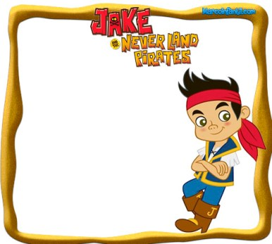 Marcos de Jake y Los PIratas - Jake Pirata invitaciones de cumpleaños - imprimibles jake pirata - cumpleaños Jake pirata imagenes