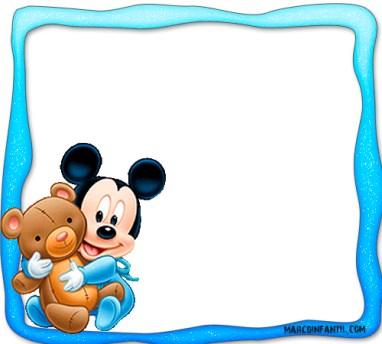 Marcos de Mickey bebe - imagenes mickey bebe - stickers mickey bebe - etiquetas mickey baby