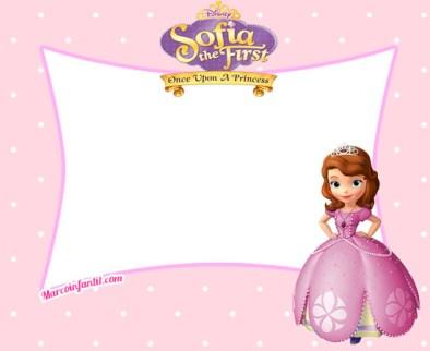 Marcos de Princesa Sofía - Fondos de Princesa Sofia - Tarjetas de Princesa Sofía - Invitaciones de cumpleaños Princesa Sofia