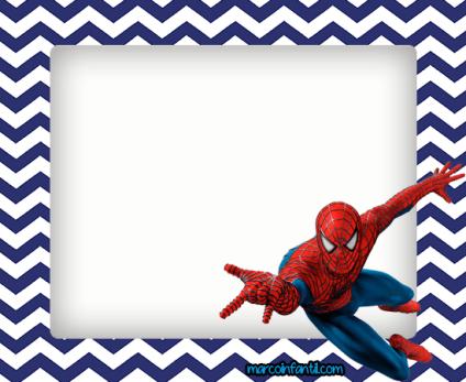 hombre araña marcos infantiles