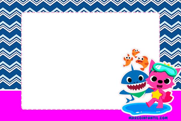 Baby Shark invitaciones