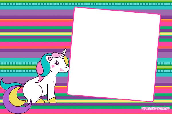 Tarjetas Unicornios Invitaciones