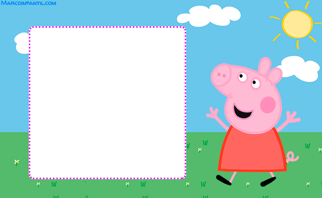 Frames Peppa Pig marcos para fotos