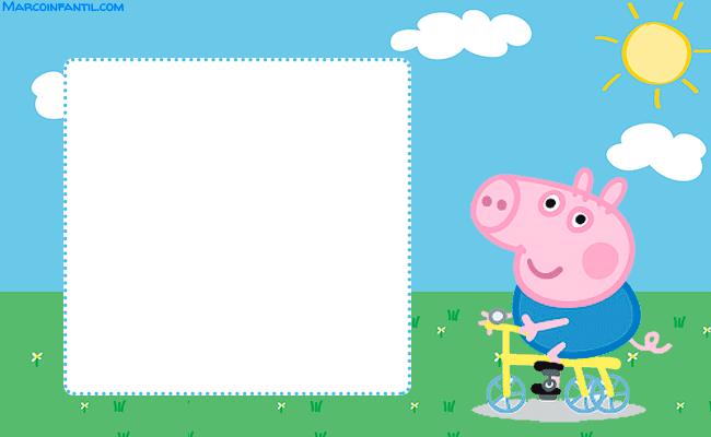 Tarjetas George Pig Invitaciones